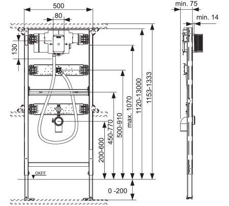 תמונת מזרם אלקטרוני למשתנה TECEprofil urinal 9320013 2