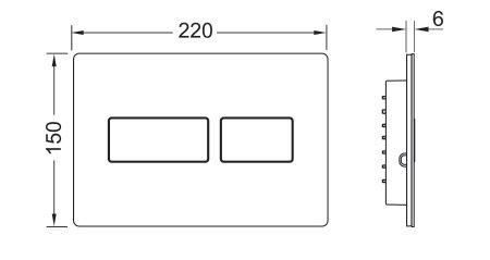 תמונת לחצן אנטי-ונדאלי TECEsolid 9240433 2