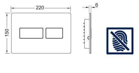 תמונת לחצן אנטי-ונדאלי TECEsolid 9240434 2